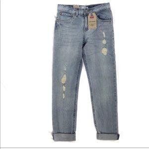 Levi's girls girlfriend jeans light wash NWT